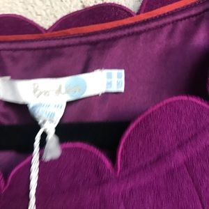 Boden Dresses - Boden purple scalloped hem wool dress